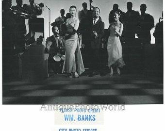 Perez Prado Cuban band leader dancing vintage photo