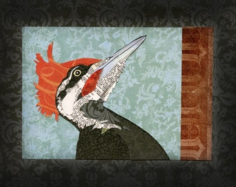 Pileated Woodpecker Collage Original