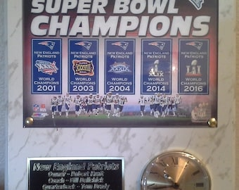 New England Patriots 5X Super Bowl Champions