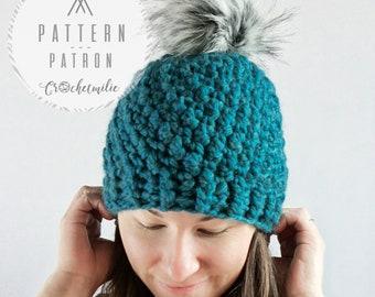 """CROCHET PATTERN #034--- The """"winter haircut"""" hat"""