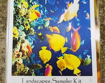Great Barrier Reef colors Landscapes Dye Sample Kit