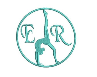 Gymnastic Embroidery Design in 2 Sizes - INSTANT DOWNLOAD