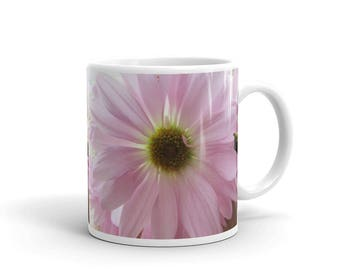 Pretty Pink Daisy Ceramic Coffee Mug