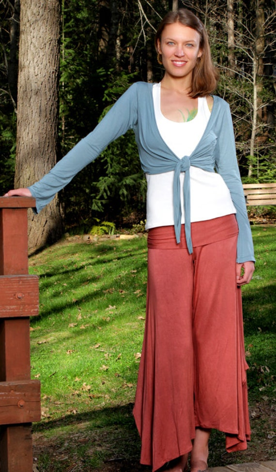 Comfortable Loose Fit Wide Leg Pants in Rustic Peach