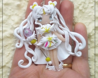 Sailor cosmos Handmade  Polymer Clay  Pendant