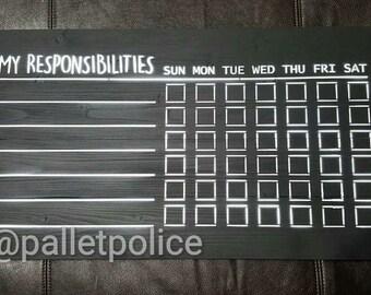 Chalkboard Chore Chart