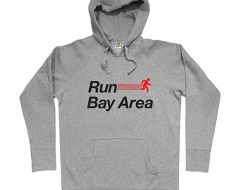 Run Bay Area V2 Hoodie - Men S M L XL 2x 3x - Gift for Men, Her, Sweatshirt, Bay Area Running Hoody, Bay Area Jogging Hoody, San Francisco