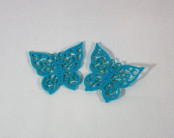 Embellishments/applique/subjects felt turquoise Butterfly