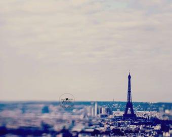 Paris lensbaby photography print, stillife photo, paris wall art, home decor, eiffel tower, travel, fine art photography, whimisical, art