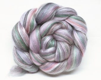 Mother of Pearl - custom blended combed tops spinning felting 100g