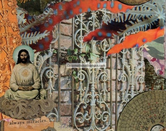 Original Handmade Collage Art Print, Who Are We Really ?