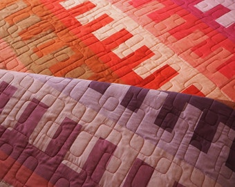 Warp and weft, Mexican-inspired modern quilt pattern (pdf download) in three sizes – queen, lap and baby