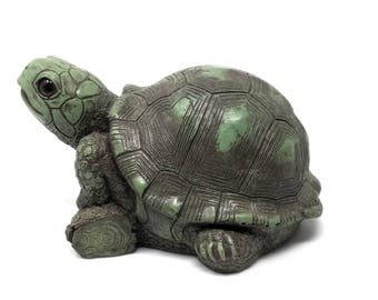 Cute Turtle Sculpture Garden Decor, Little Turtle Statue Garden Ornament,  Turtle Home Decor Or