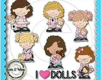 Dolly Girls, Clipart, Dolls, Commercial Use