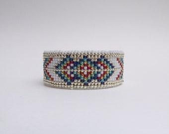 Beaded Leather Cuff Bracelet - Sooleawa