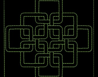 """Celtic Quilting background Machine Embroidery Designs 4"""" , 5"""" and 6""""  size - # 04"""