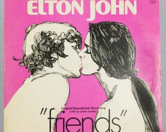 Elton John - Friends Soundtrack Album Paramount Records 1971 Original Vintage Vinyl Record LP