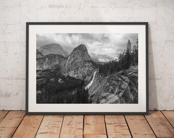 Yosemite National Park, California, Nature, Black And White, Wall Art, Prints, Nature Landscape Photography