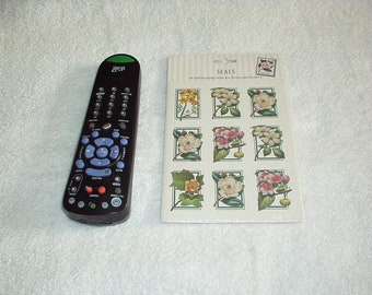 Vintage 1998 FLOWERS 18-count Self-Sticking Stamps design SEALS for Notes & Letters - New, Rare