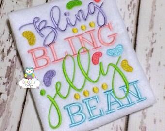Bling Bling Jelly Bean Shirt or Bodysuit, Bling Bling Jelly Bean, Little Miss Jelly Bean, Little Miss Easter, Girl Easter, Bunny Hop