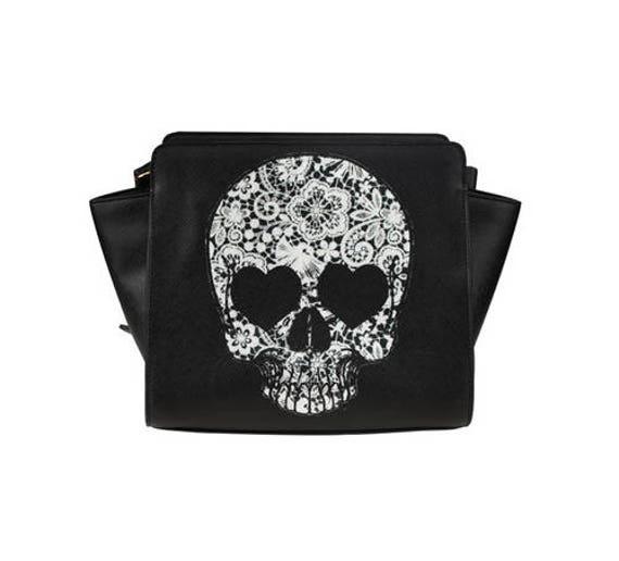 Lace Skull Shabby Chic Satchel