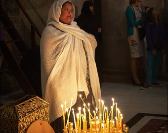 Portrait of an Ethiopian Pilgrim - The Church of the Holy Sepulchre - Color Photo Print - Fine Art Photography (IS27)