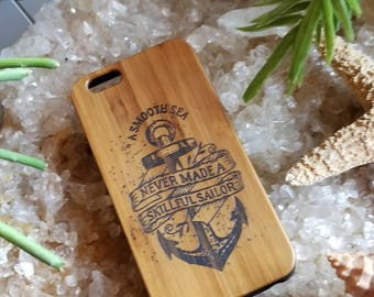A Smooth Sea... bamboo wood case for iPhone 6, iPhone 6s, iPhone 6 plus, iPhone 7, iPhone 7 plus, iPhone 8, iPhone 8 plus, iPhone X