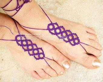 Tutorial Crochet Beach, Pool Sandals PDF Pattern,   Barefoot Sandals,  Beach Wedding Accessories
