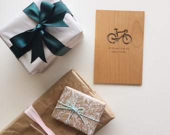 Let the Good Times Roll -- Happy Birthday Bicycle Wood Card