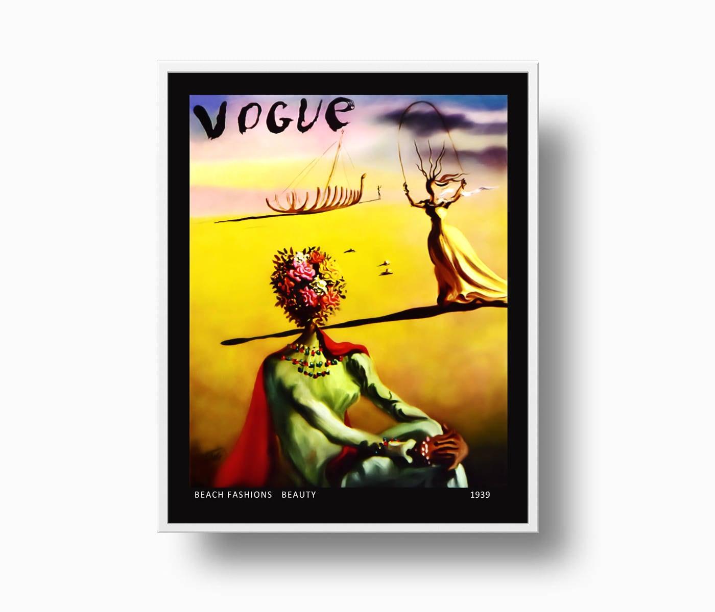 Vogue 1939 Print Vogue Cover print Salvador Dali Fashion