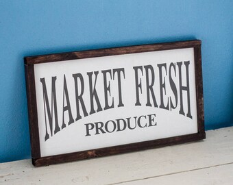Market Fresh Produce Farmhouse Sign