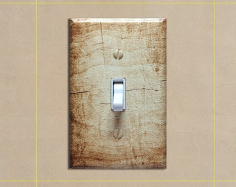 Faux Wood Grain #7 - Light Switch Plate Covers Home Decor Outlet