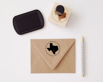 Choose Your State Personalized Wooden Address Stamp