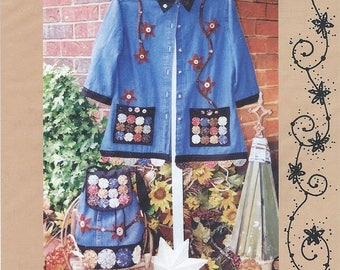 Yo-yos and Star Flowers by Kay Whitt for Serendipity gifts - Jacket and Bag Sewing Pattern