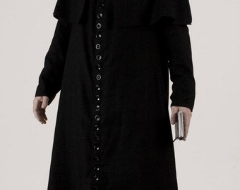Victorian priest, 19th century cassock, Catholic parson robe