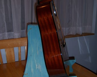 Adjustable Folding stand for guitar, ukulele and others, wooden stain