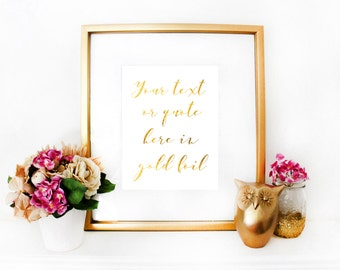 Custom Gold Foil Script
