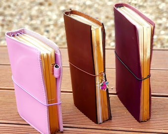 TRAVELERS NOTEBOOK INSERTS Gold Edge B6, A5 Standard, Midori Foxy Fix 5, 6, 8 Blank Book Chic Sparrow Scriver Creek Traveler's Ready to Ship