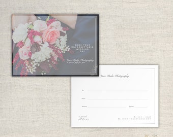 Photography Gift Card Template - Photographer Gift Certificate Template - Wedding Photo Gift Card Templates - INSTANT DOWNLOAD