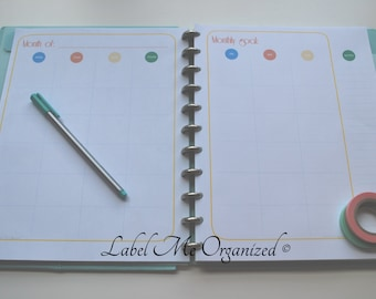 Perpetual Monthly Planner - Letter Sized