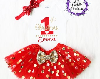 Personalized Christmas Outfit, Holiday Outfit, Christmas Bodysuit, First Christmas Outfit, Christmas Outfit, Personalized Christmas Bodysuit