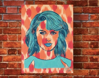 Taylor Swift Canvas Painting