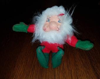 Vintage 1982 Rennoc Santakins Plush Poseable Santa