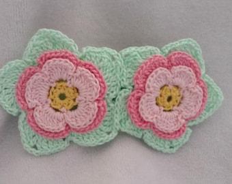 Crochet hair barrette