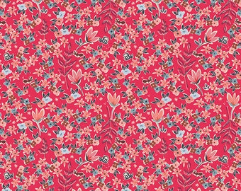 Art Gallery Fabric - Charleston - Garden of Dreams Rouge- by the yard
