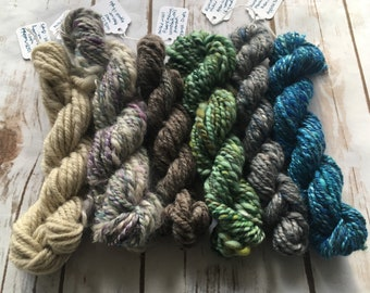 Handspun Yarn Mini Skeins - Wool & Mixed Fibers
