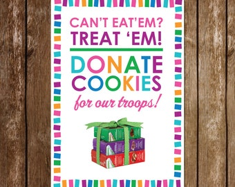 20 x 30 Girl Scout Donate Cookies Sign | Operation Cookie Drop | Printable