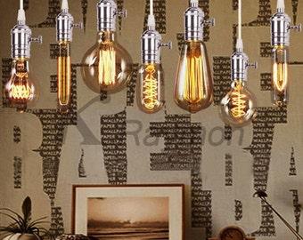 Vintage Style Pendant Light - Vintage Lighting - Antique Lighting - Hanging Pendant - Multi Color