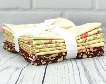 Hazel & Plum Yellow Half Yard Bundle - Moda Fabric - Fig Tree Quilts - Hazel and Plum Fabric - Moda Bundle - 8 pieces