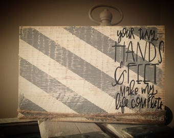 Distressed baby frame